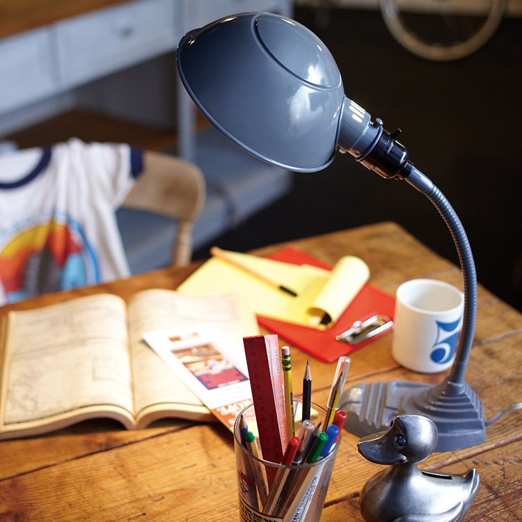 Old school-desk lamp