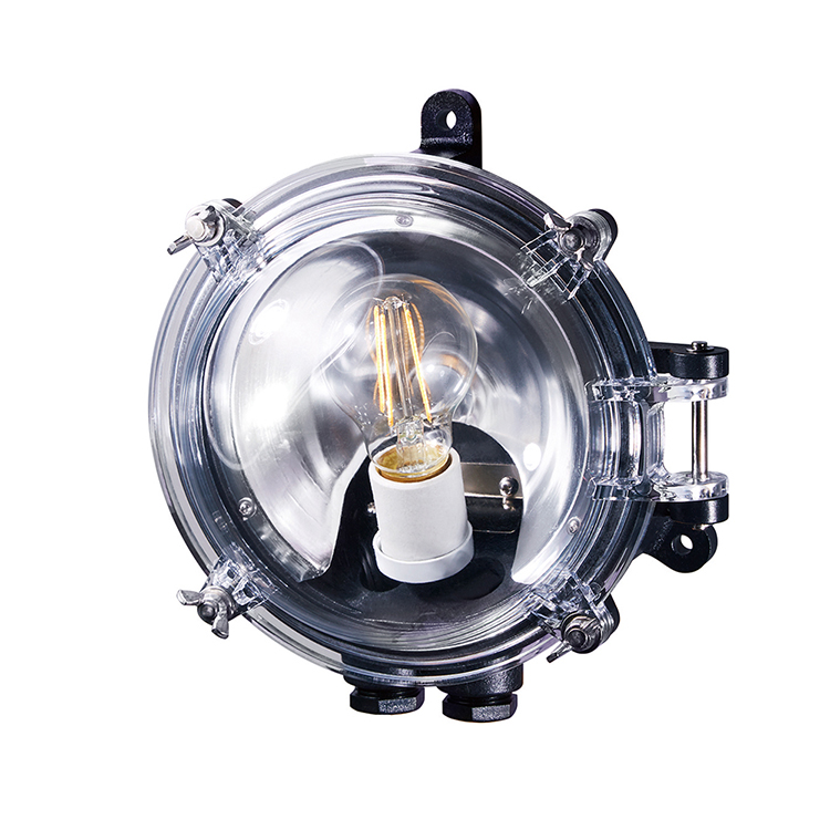 Navy base-dome wall lamp