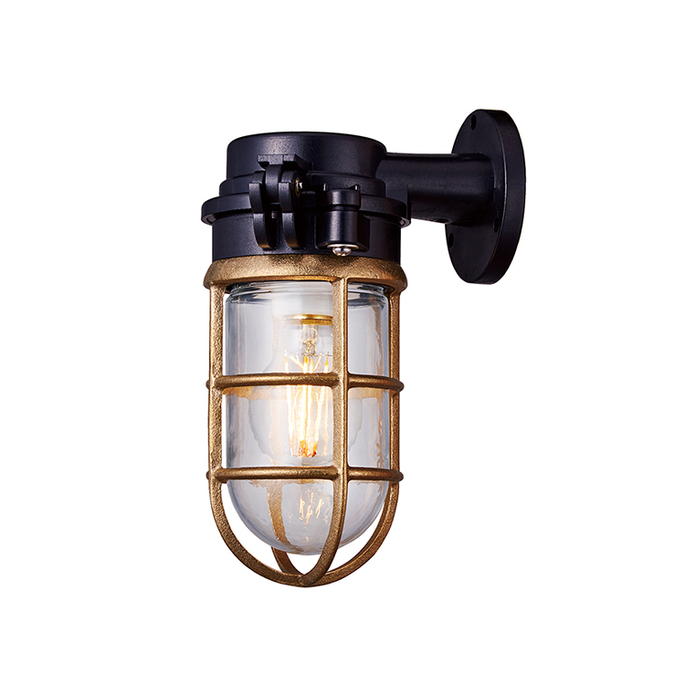 Navy base-flat top wall lamp
