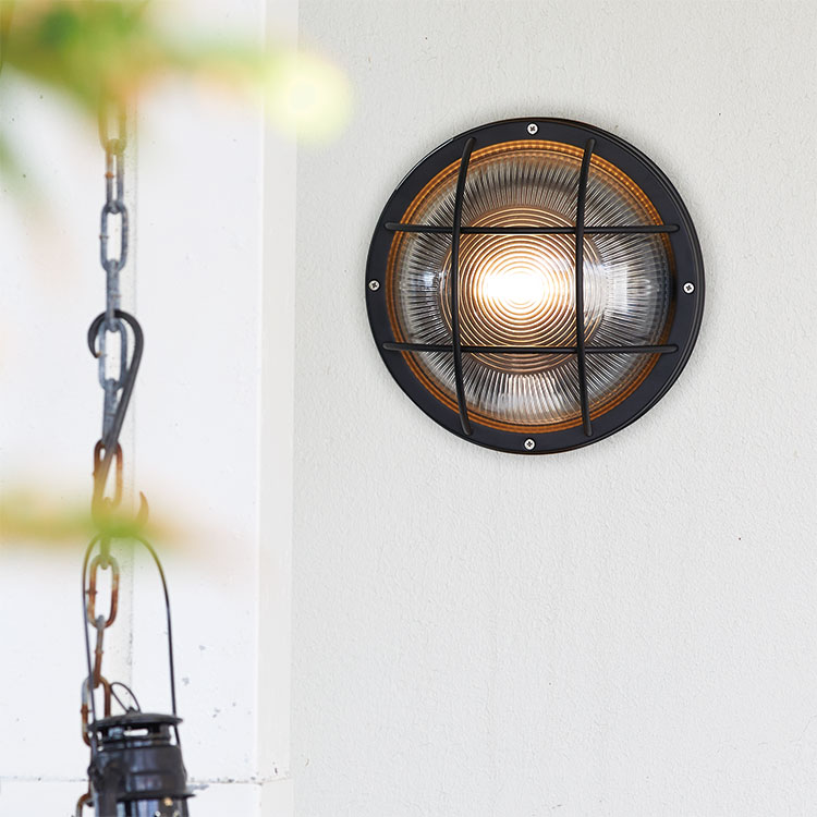 Navy base-round wall lamp
