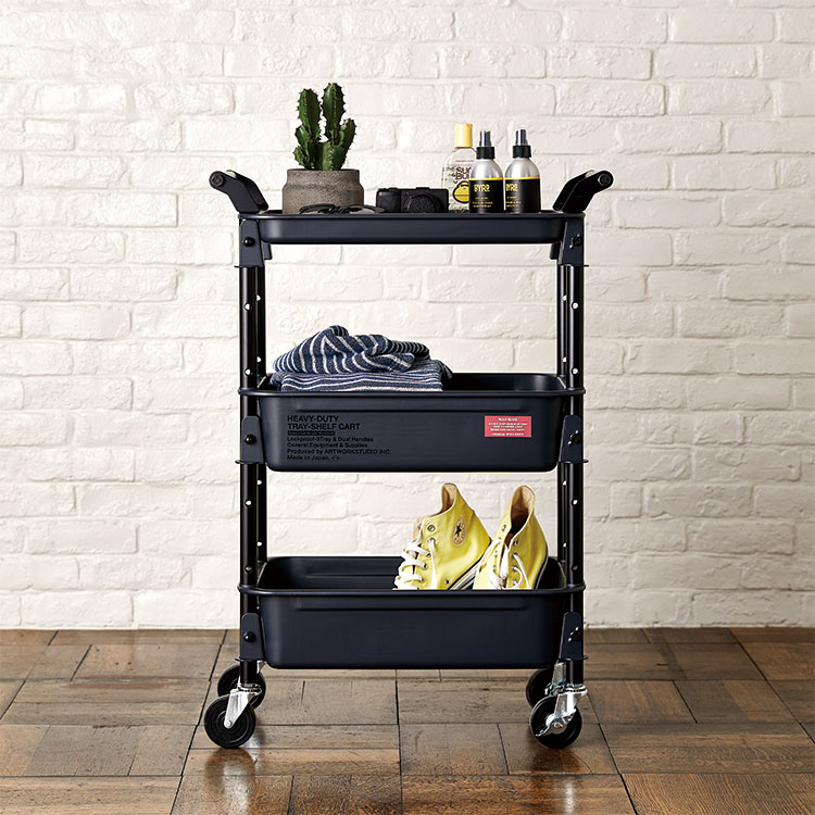 HEAVY-DUTY tray-shelf cart